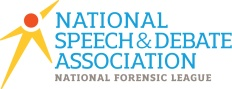 National Speech & Debate Association Logo